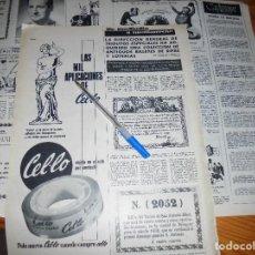 Coleccionismo de Revista Destino: RECORTE PRENSA : COLECCION DE ANTIGUOS BILLETES DE RIFAS Y LOTERIAS. DESTINO, MARZO 1963. Lote 126442859