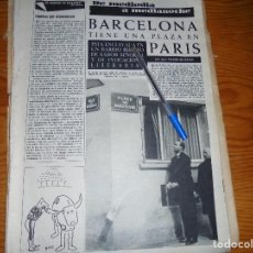Coleccionismo de Revista Destino: RECORTE PRENSA : BARCELONA, TIENE UNA PLAZA EN PARIS. DESTINO, MARZO 1963. Lote 126442943