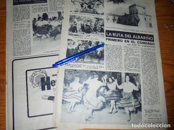 RECORTE PRENSA : LA RUTA DEL ALBARIÑO. DESTINO, NOVBRE 1962 (Coleccionismo - Revistas y Periódicos Modernos (a partir de 1.940) - Revista Destino)