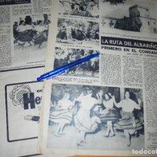 Coleccionismo de Revista Destino: RECORTE PRENSA : LA RUTA DEL ALBARIÑO. DESTINO, NOVBRE 1962. Lote 126627535