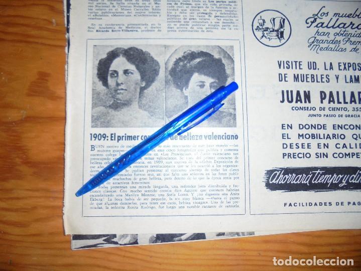 RECORTE PRENSA : EN 1909, EL PRIMER CONCURSO DE BELLEZA VALENCIANO. DESTINO, ABRIL 1961 (Coleccionismo - Revistas y Periódicos Modernos (a partir de 1.940) - Revista Destino)