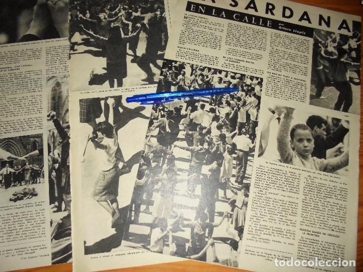 RECORTE PRENSA : LA SARDANA SE BAILA EN LAS CALLES. DESTINO, ABRIL 1961 (Coleccionismo - Revistas y Periódicos Modernos (a partir de 1.940) - Revista Destino)