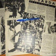 Coleccionismo de Revista Destino: RECORTE PRENSA : LA SARDANA SE BAILA EN LAS CALLES. DESTINO, ABRIL 1961. Lote 126636643