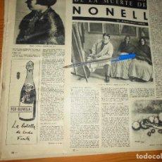 Coleccionismo de Revista Destino: RECORTE PRENSA : EN EL CINCUENTENARIO DE LA MUERTE DE NONELL. DESTINO, DCMBRE 1962. Lote 126935543