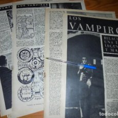 Coleccionismo de Revista Destino: RECORTE PRENSA : LOS VAMPIROS, UNA ESTIRPE LEGENDARIA Y MALDITA. DESTINO, DCMBRE 1962. Lote 126935615