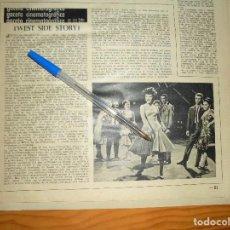 Coleccionismo de Revista Destino: RECORTE PRENSA : LA PELICULA , WEST SIDE STORY. DESTINO, DCMBRE 1962. Lote 126936363