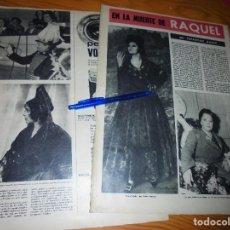 Coleccionismo de Revista Destino: RECORTE PRENSA : EN LA MUERTE DE RAQUEL MELLER. DESTINO, JULIO 1962. Lote 127821975