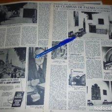 Coleccionismo de Revista Destino: RECORTE PRENSA : LAS CLARISAS DE PALMA. LOS CONVENTOS PALMESANOS DE CLAUSURA. DESTINO, ENERO 1960. Lote 128418235
