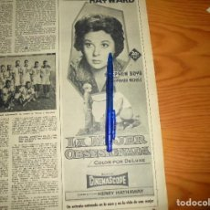 Coleccionismo de Revista Destino: PUBLICIDAD PELICULA : LA MUJER OBSESIONADA. SUSAN HAYWARD. STEPHEN BOYD. DESTINO, ENERO 1960. Lote 128418447
