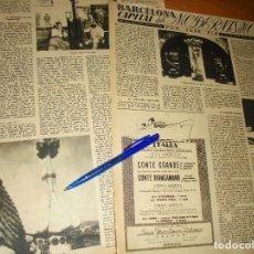 Coleccionismo de Revista Destino: RECORTE PRENSA : BARCELONA, CAPITAL DEL MODERNISMO. JOSE PLA. DESTINO, FBRERO 1950. Lote 128608671