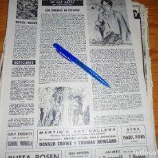 Coleccionismo de Revista Destino: RECORTE PRENSA : LOS DIBUJOS DE PICASSO. DESTINO, ABRIL 1961. Lote 128724099