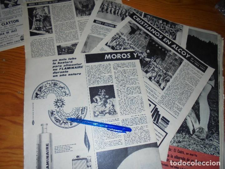 RECORTE PRENSA : LA FIESTA DE MOROS Y CRISTIANOS DE ALCOY . DESTINO, ABRIL 1961 (Coleccionismo - Revistas y Periódicos Modernos (a partir de 1.940) - Revista Destino)