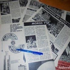 Coleccionismo de Revista Destino: RECORTE PRENSA : LA FIESTA DE MOROS Y CRISTIANOS DE ALCOY . DESTINO, ABRIL 1961. Lote 128724203