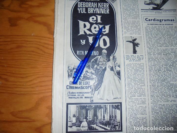 PUBLICIDAD PELICULA : EL REY Y YO. YUL BRUNNER, DEBORAH KERR. DESTINO, MARZO 1959 (Coleccionismo - Revistas y Periódicos Modernos (a partir de 1.940) - Revista Destino)