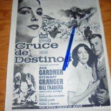 Coleccionismo de Revista Destino: PUBLICIDAD PELICULA : CRUCE DE DESTINOS. AVA GARDNER, STEWART GRANGER. DESTINO, MARZO 1959. Lote 128724735