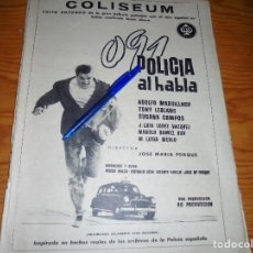 Coleccionismo de Revista Destino: PUBLICIDAD PELICULA : 091 , POLICIA AL HABLA. TONY LEBLANC, ADOLFO MARSILLACH. DESTINO, NVBRE 1960. Lote 129307287