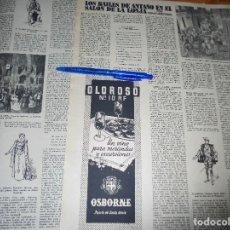 Coleccionismo de Revista Destino: RECORTE PRENSA : LOS BAILES DE ANTAÑO EN EL SALON DE LA LONJA, DE BARCELONA. DESTINO, JUNIO 1957. Lote 129307539
