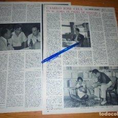 Collectionnisme de Magazine Destino: RECORTE PRENSA : CAMILO JOSE CELA EN SU FORJA DE PALMA DE MALLORCA. DESTINO, STBRE 1959. Lote 130399934