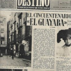 Colecionismo da Revista Destino: AÑO 1952 TALLER EL GUAYABA PICASSO YNGLADA TIBIDABO TRIPTICO MARIANO OLIVERAS OLOT LLEIDA TEATRO . Lote 131008048