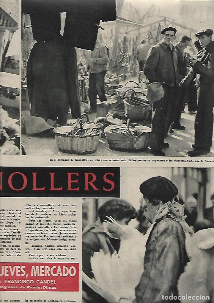 AÑO 1959 GRANOLLERS MERCADO JUEVES MERCAT DEL DIJOUS IGLESIA SANT JOAN ISIL GIL PORTA FERRADA (Coleccionismo - Revistas y Periódicos Modernos (a partir de 1.940) - Revista Destino)