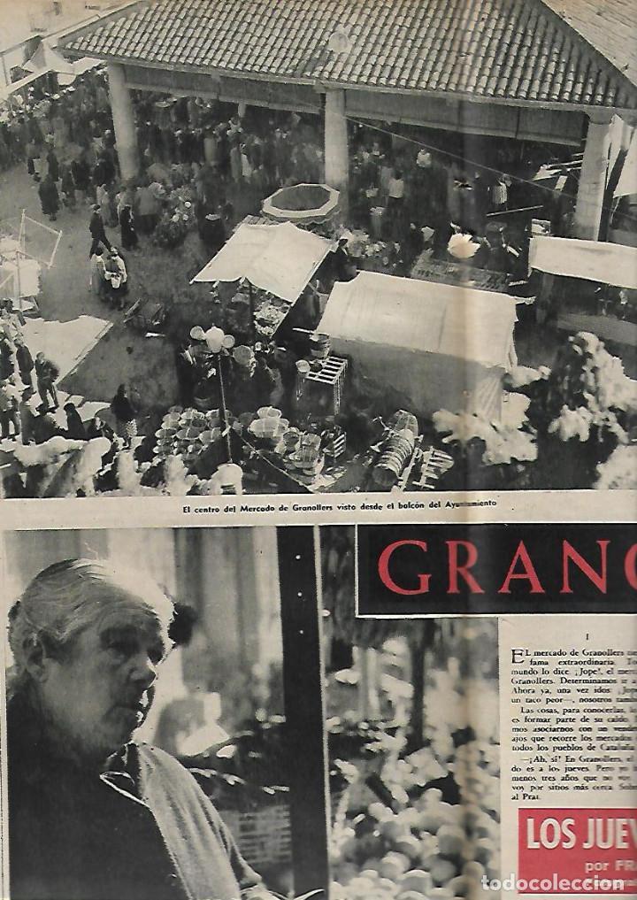 Coleccionismo de Revista Destino: AÑO 1959 GRANOLLERS MERCADO JUEVES MERCAT DEL DIJOUS IGLESIA SANT JOAN ISIL GIL PORTA FERRADA - Foto 2 - 131045320