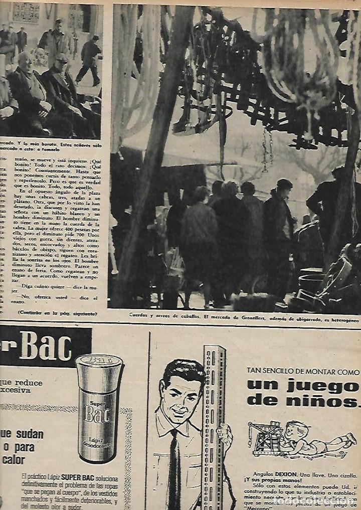 Coleccionismo de Revista Destino: AÑO 1959 GRANOLLERS MERCADO JUEVES MERCAT DEL DIJOUS IGLESIA SANT JOAN ISIL GIL PORTA FERRADA - Foto 3 - 131045320