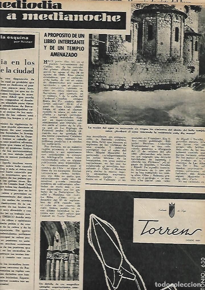 Coleccionismo de Revista Destino: AÑO 1959 GRANOLLERS MERCADO JUEVES MERCAT DEL DIJOUS IGLESIA SANT JOAN ISIL GIL PORTA FERRADA - Foto 4 - 131045320