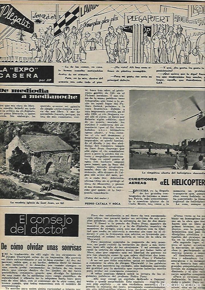 Coleccionismo de Revista Destino: AÑO 1959 GRANOLLERS MERCADO JUEVES MERCAT DEL DIJOUS IGLESIA SANT JOAN ISIL GIL PORTA FERRADA - Foto 5 - 131045320