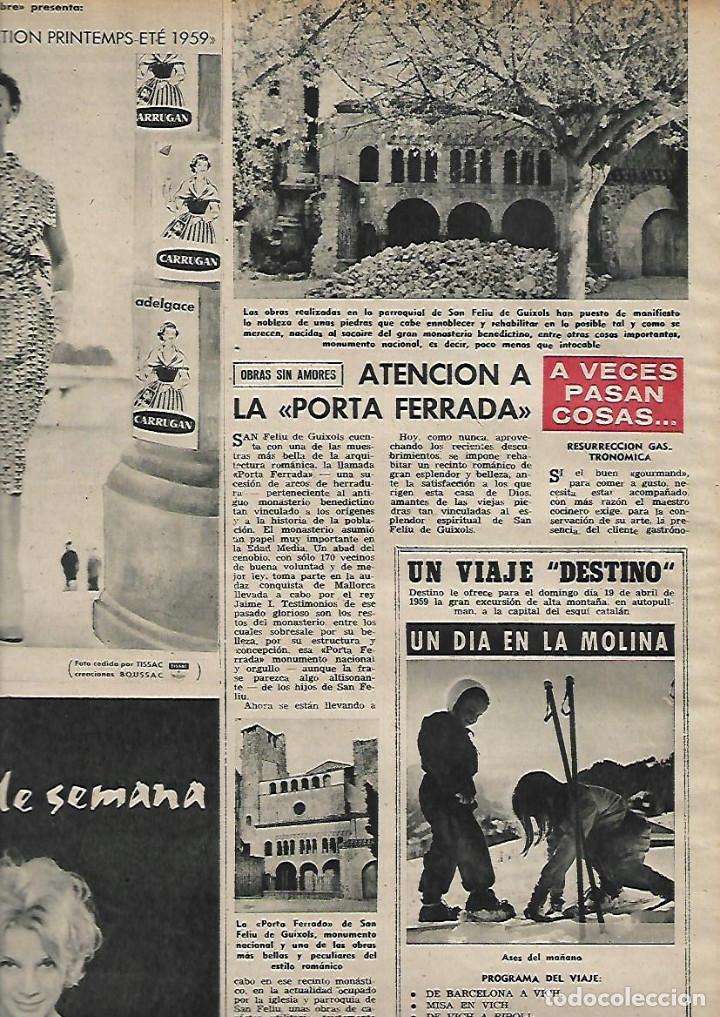 Coleccionismo de Revista Destino: AÑO 1959 GRANOLLERS MERCADO JUEVES MERCAT DEL DIJOUS IGLESIA SANT JOAN ISIL GIL PORTA FERRADA - Foto 6 - 131045320