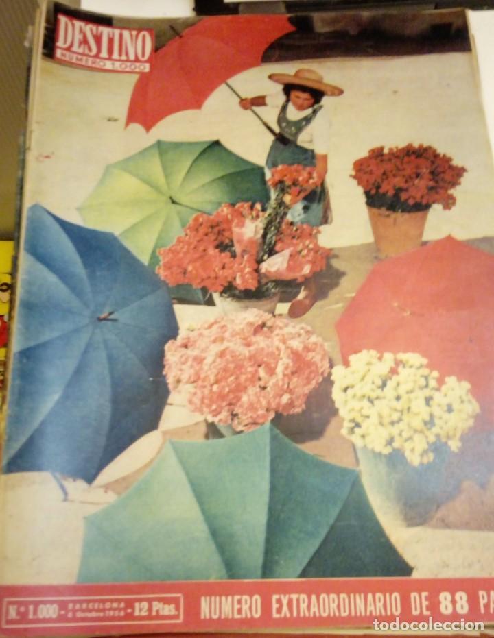 DESTINO Nº 1000 - 6 OCTUBRE 1956 - NUMERO EXTRAORDINARIO DE 88 PAGINAS - V. ALEIXANDRE, PLA, CELA (Coleccionismo - Revistas y Periódicos Modernos (a partir de 1.940) - Revista Destino)
