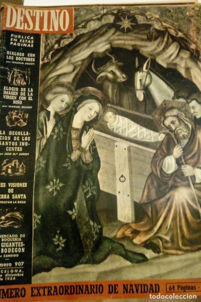 DESTINO Nº 907 - 25 DICIEMBRE 1954 - NUMERO EXTRAORDINARIO DE NAVIDAD - 64 PAGINAS (Coleccionismo - Revistas y Periódicos Modernos (a partir de 1.940) - Revista Destino)