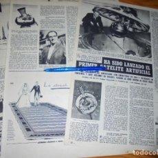 Collectionnisme de Magazine Destino: RECORTE PRENSA : HA SIDO LANZADO EL PRIMER SATELITE ARTIFICIAL. DESTINO, OCTUBRE 1957. Lote 133398146