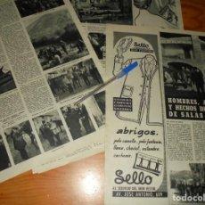 Collectionnisme de Magazine Destino: RECORTE PRENSA : HOMBRES , ANIMALES Y HECHOS DE LA FERIA DE SALAS. DESTINO, DICBRE 1959. Lote 134932674