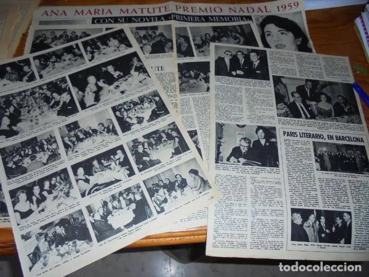 RECORTE PRENSA : ANA MARIA MATUTE, PREMIO NADAL 1959. DESTINO, ENERO 1960 (Coleccionismo - Revistas y Periódicos Modernos (a partir de 1.940) - Revista Destino)