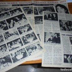 Colecionismo da Revista Destino: RECORTE PRENSA : ANA MARIA MATUTE, PREMIO NADAL 1959. DESTINO, ENERO 1960. Lote 135521558