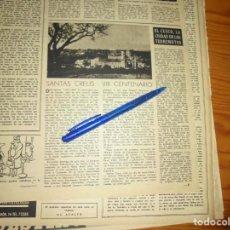Coleccionismo de Revista Destino: RECORTE PRENSA : SANTAS CREUS, VIII CENTENARIO . DESTINO, SPTBRE 1950. Lote 140981198