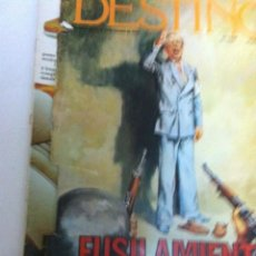 Coleccionismo de Revista Destino: DESTINO - FUSILAMIENTO DE COMPANYS - 1977. Lote 141526510