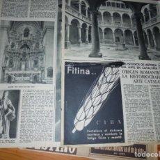 Coleccionismo de Revista Destino: RECORTE PRENSA : ORIGEN ROMANTICO DE LA HISTORIOGRAFIA DEL ARTE CATALAN . DESTINO, OCTBRE 1959. Lote 141578790