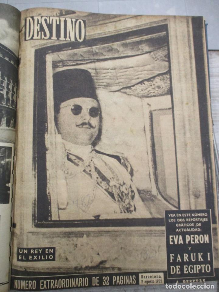 Coleccionismo de Revista Destino: DOS TOMOS REVISTA DESTINO AÑO 1952 - DEL 778 AL 803 CORRELATIVOS - 26 EJEMPLARES CON DOS EXTRAS - Foto 2 - 142700734