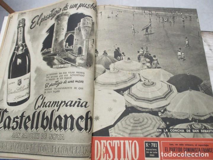 Coleccionismo de Revista Destino: DOS TOMOS REVISTA DESTINO AÑO 1952 - DEL 778 AL 803 CORRELATIVOS - 26 EJEMPLARES CON DOS EXTRAS - Foto 4 - 142700734