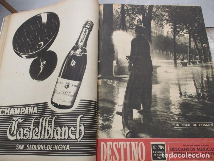 Coleccionismo de Revista Destino: DOS TOMOS REVISTA DESTINO AÑO 1952 - DEL 778 AL 803 CORRELATIVOS - 26 EJEMPLARES CON DOS EXTRAS - Foto 6 - 142700734