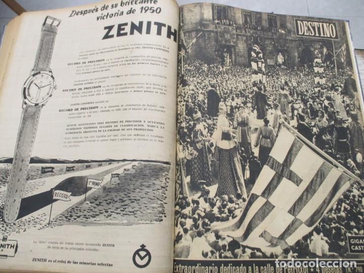 Coleccionismo de Revista Destino: DOS TOMOS REVISTA DESTINO AÑO 1952 - DEL 778 AL 803 CORRELATIVOS - 26 EJEMPLARES CON DOS EXTRAS - Foto 9 - 142700734