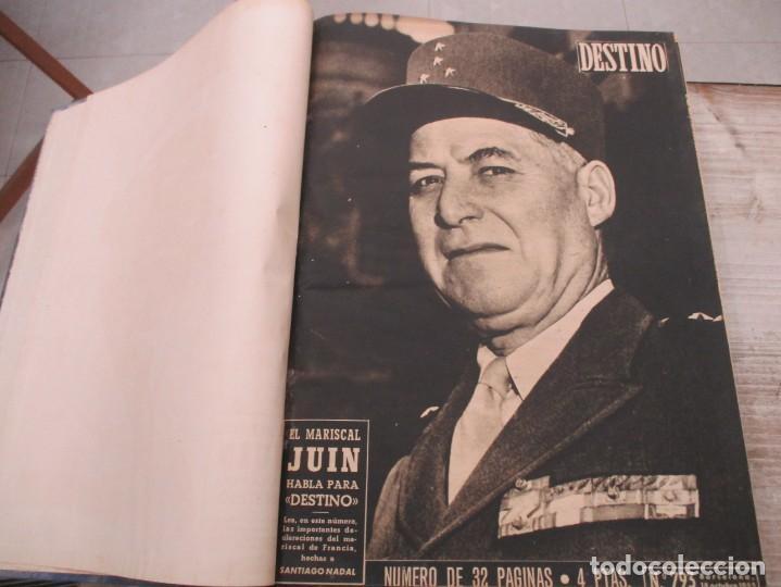 Coleccionismo de Revista Destino: DOS TOMOS REVISTA DESTINO AÑO 1952 - DEL 778 AL 803 CORRELATIVOS - 26 EJEMPLARES CON DOS EXTRAS - Foto 10 - 142700734