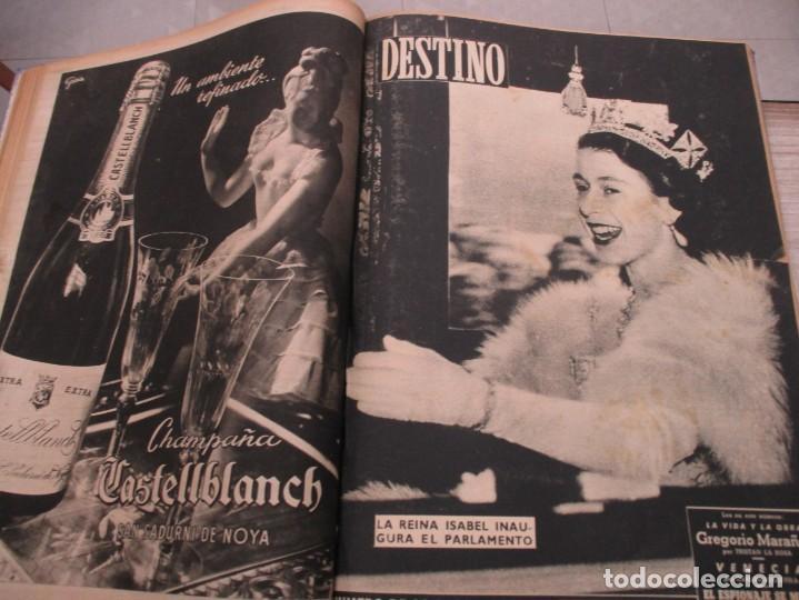 Coleccionismo de Revista Destino: DOS TOMOS REVISTA DESTINO AÑO 1952 - DEL 778 AL 803 CORRELATIVOS - 26 EJEMPLARES CON DOS EXTRAS - Foto 12 - 142700734