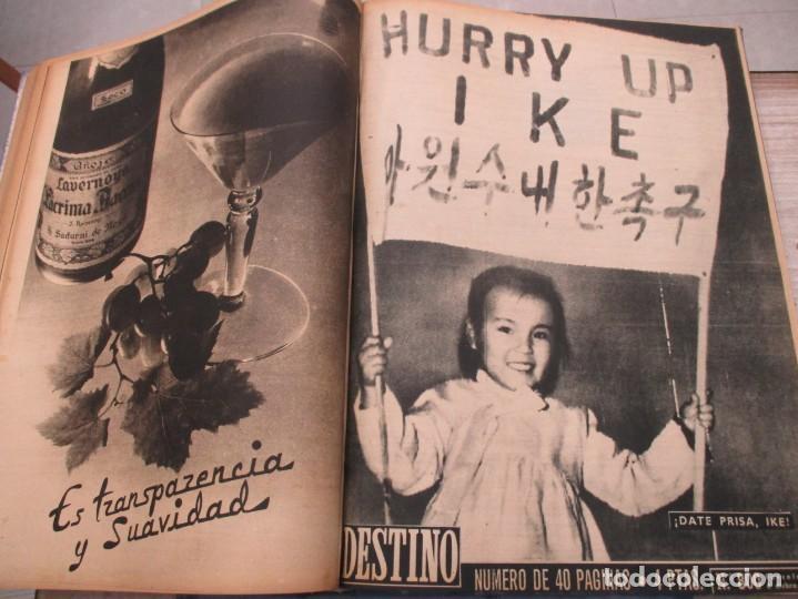 Coleccionismo de Revista Destino: DOS TOMOS REVISTA DESTINO AÑO 1952 - DEL 778 AL 803 CORRELATIVOS - 26 EJEMPLARES CON DOS EXTRAS - Foto 15 - 142700734