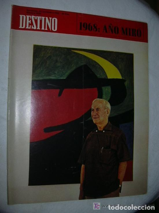 REVISTA DESTINO 1625 DEL 23 NOVIEMBRE 1968 (Coleccionismo - Revistas y Periódicos Modernos (a partir de 1.940) - Revista Destino)