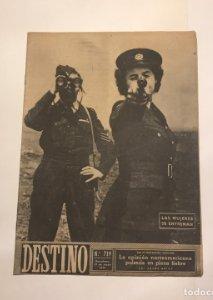 1951 Revista Destino Nº 719 La opinión norteamericana pulsada en plena fiebre J.Arias