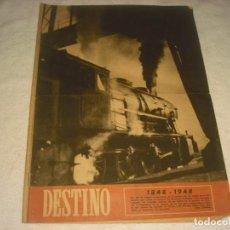 Collectionnisme de Magazine Destino: DESTINO Nº 583, OCTUBRE 1948.CENTENARIO DE LA CONSTRUCCION DEL PRIMER FERROCARRIL 1848-1948. Lote 147881446