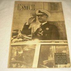 Coleccionismo de Revista Destino: DESTINO Nº 712, MARZO 1951 . EN PORTADA FRANCISCO FRANCO EN BARCELONA.. Lote 147884922