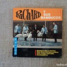 Coleccionismo de Revista Destino: RICHARD Y SUS BAMBUCOS: POP ESPAÑOL PORTADA SOLA SIN DISCO- LAMINADA Y MUY RARA-OPORTUNIDAD. Lote 148262202